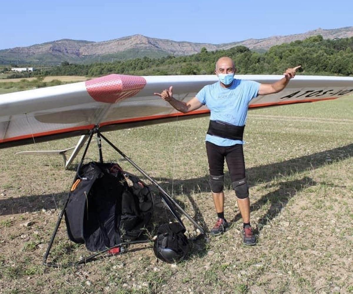 Marc de Ager, piloto de ala delta