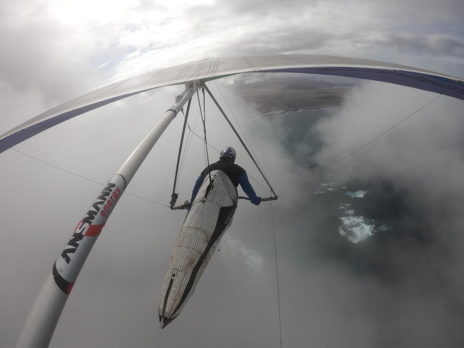 Johnny Nilssen en la nube en Famara