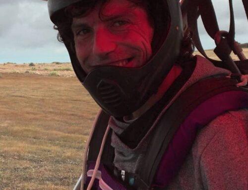 Marc de Ager vuela en ala delta en Lanzarote
