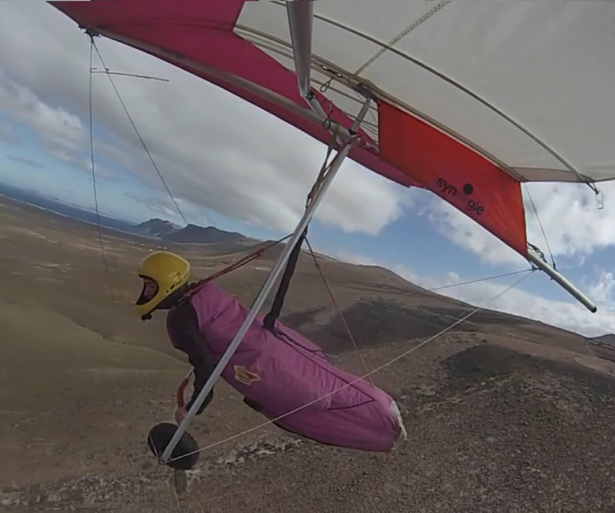 Pepa de los Mares, la piloto de ala delta
